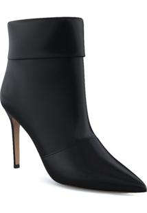 Paul Andrew Ankle Boot Banner Com Salto 85Mm - Preto