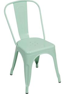 Cadeira Retro- Verde Água- 86X36X35,5Cm- Or Desior Design