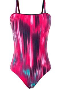 Body Outletdri Suplex Reto Alcinha Básica Estampado Pink