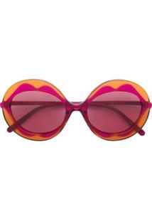 1df88c9c81357 Marni Eyewear Óculos De Sol Com Armação Redonda - Rosa