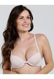 Sutiã Feminino Push Up Renda Sloggi