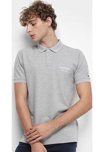 Camisa Polo Tommy Hilfiger Essential Regular Masculina - Masculino-Cinza