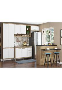 Cozinha Completa Multimóveis Com 5 Peças Sicília 5845 Argila/Branco