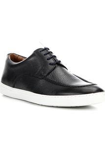 Sapatênis Couro Shoestock Clássico Masculino - Masculino-Marinho
