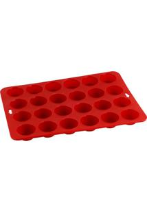 Forma Retangular Em Silicone 34,5Cm X 24,5Cm Kenya Vermelha