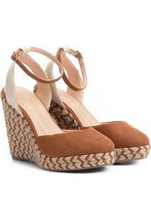 Sandália Anabela Shoestock Espadrille Corda Feminina