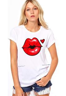 Camiseta Coolest Boca Vermelha Branco