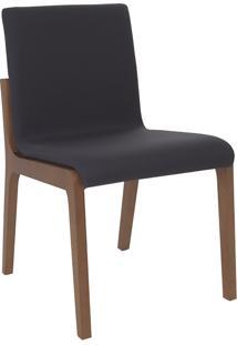 Cadeira Angelina - Couro Preto