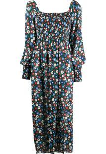 Rixo Vestido Com Estampa Floral Marie - Azul