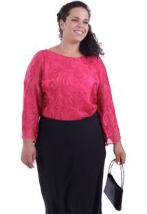 Blusa Azalea Pink Plus Size Vickttoria Vick Plus Size Rosa
