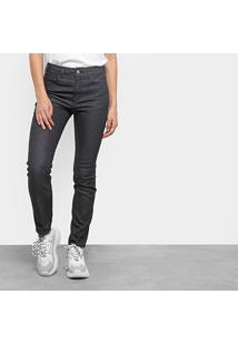 82a0f70eb ... Calça Jeans Skinny Ellus Lavagem Escura Cintura Alta Feminina -  Feminino-Preto