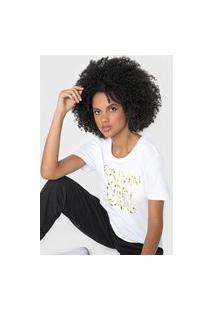 Blusa Calvin Klein Jeans Logo Folhagens Branca