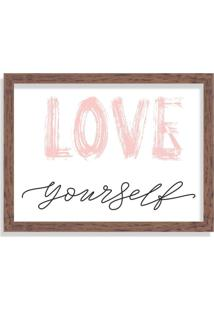 Quadro Decorativo Love Yourself Madeira - Grande