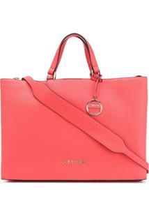 Calvin Klein Bolsa Tote Com Logo - Rosa