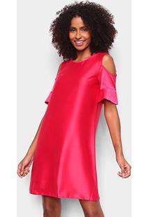 Vestido Malwee Liso Open Shoulder - Feminino