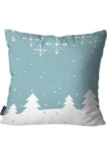 Capa Para Almofada Mdecor De Natal Azul