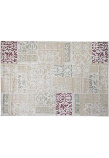 Tapete Modern Patch Redondo Viscose (160X160) Bege