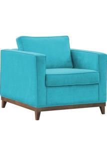 Poltrona Decorativa Aspen Suede Azul Claro - D'Monegatto