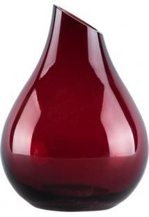 Vaso De Vidro Gota Vermelha