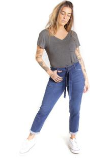Calça Jeans Skinny Le Julie Cintura Alta Com Lycra Azul