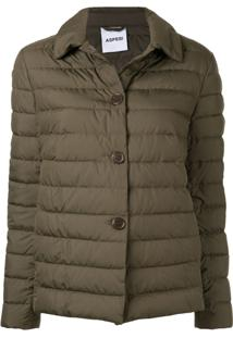 Aspesi Padded Button Jacket - Verde