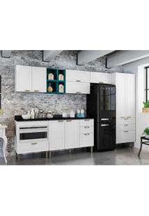 Cozinha Compacta Nevada 9 Pt 7 Gv Branca E Verde