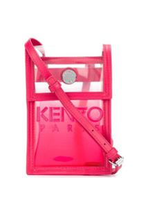 Kenzo Bolsa Transversal Com Recorte Translúcido - Rosa