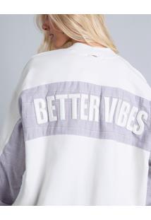 Blusão Oversized Bordado Branco Off White - Lez A Lez
