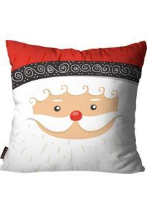 Capa Para Almofada Mdecore Natal Papai Noel Branca 45X45Cm