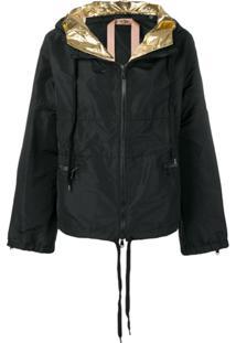 Nº21 Oversized Hooded Jacket - Preto