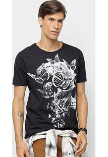 Camiseta Derek Ho Butterfly Skull Masculina - Masculino-Preto