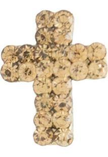 Broche Armazem Rr Bijoux Cruz Dourado - Kanui