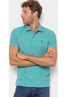 Camisa Polo Aleatory Piquet Básica Masculina - Masculino-Verde