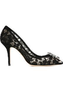 Dolce & Gabbana Scarpin De Renda - Preto