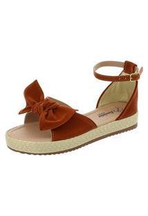 Sandália Romântica Calçados Flatform Fashion Bordô