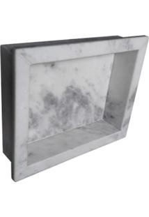 Nicho Rw Para Banheiro Mármore Branco Comercial Com Borda A: 30Cm. X C: 40Cm.