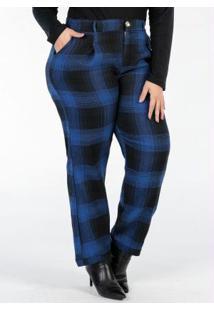 Calça Plus Size Flanela Xadrez