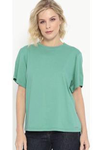 Camiseta Com Botões- Verde Água- Colccicolcci