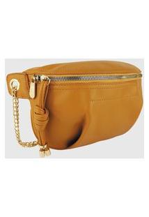 Bolsa Pochete Lenna'S Transversal B038 Amarela