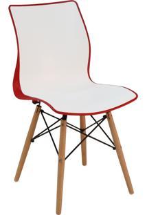 Cadeira Tramontina 92066143 Maja Com Base 3D Vermelho E Branco