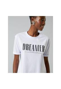 Amaro Feminino T-Shirt Dreamer, Branco
