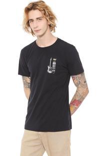 Camiseta Osklen Vintage Color Preta