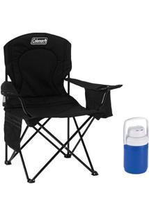 Kit Cadeira Dobrável Com Cooler Térmico E Porta Copo Coleman + Jarra Térmica 1,2 L - Unissex