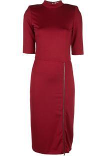 Alice+Olivia Inka Side Slit Dress - Vermelho