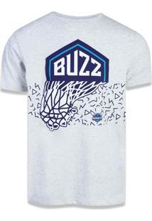 Camiseta New Era Regular Charlotte Hornets Mescla Off White