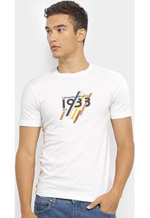 Camiseta Lacoste Estampada Masculina - Masculino-Branco