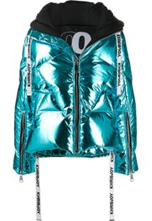 Khrisjoy Metallized Goose Down Puffer Jacket - Azul