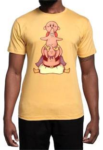 Camiseta Pink Family Geek10 - Amarelo