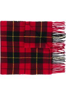 Polo Ralph Lauren Cachecol Xadrez Com Logo - Vermelho