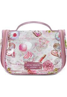 Nécessaire De Viagem Maquiagens - Branca & Rosa - 15Jacki Design